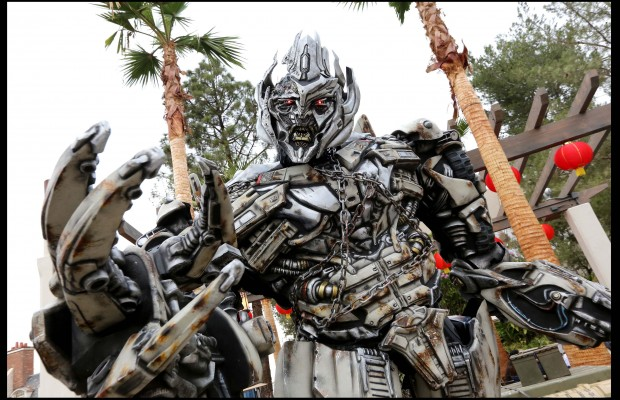 """a special Mandarin-speaking MEGATRON character from its blockbuster thrill ride, """"Transformers™: The Ride-3D,"""" at Universal Studios Hollywood. (Courtesy of Universal Studios Hollywood)"""