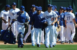 Some of the Dodgers players during spring training. (Los Angeles Dodgers)