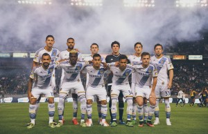 The L.A. Galaxy pose for a team picture on Friday, March 6, 2015 at StubHub Center in Carson, Calif. L.A. beat the visiting Chicago Fire, 2-0. (Courtesy of L.A. Galaxy)