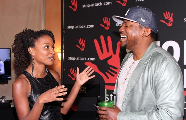 Shanola Hampton and Mekhi Phifer attend GBK 2015 Pre-Oscar Awards luxury gift lounge on February 20, 2015 in Los Angeles. (Photo by Maury Phillips/Getty Images for GBK Productions, LLC)
