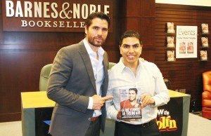 "Actor Eduardo Verástegui (left) and radio show personality Eddie ""Piolín"" Sotelo on Tuesday, March 3, 2015 at Barnes & Noble located at The Grove in Los Angeles. (Ramon Aviles/Living Out Loud LA)"