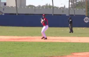 Hector Olivera could possibly play 1B, 2B or 3B for the Dodgers. (YouTube)