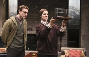 "Laura Linney and Seth Numrich in ""Switzerland,"" now playing at Geffen Playhouse in Westwood, Calif. (Michael Lamont)"