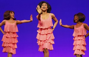 "Krisha Marcano, Allison Semmes and Trisha Jeffrey in ""Motown: The Musical"" (Joan Marcus)"