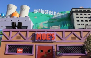 Step into an actual Moe's for a Flaming Moe in Springfield at Universal Studios Hollywood. (Sabina Ibarra/Living Out Loud LA)