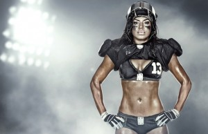 Monique Gaxiola is dedicated and disciplined both on and off the football field.