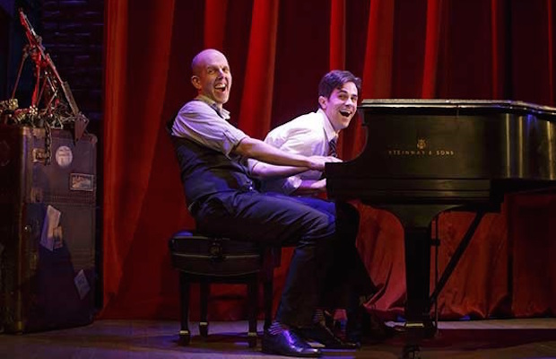 """See Jeff Blumenkrantz and Brett Ryback in """"Murder for Two"""" at Geffen Playhouse through Aug. 2. (Joan Marcus)"""