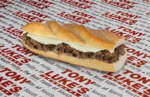 After tasting a cheesesteak from Tony Luke's at Thrillist's Culinary Road Trip, we want to go on a trip to Philly. (Tony Luke's)