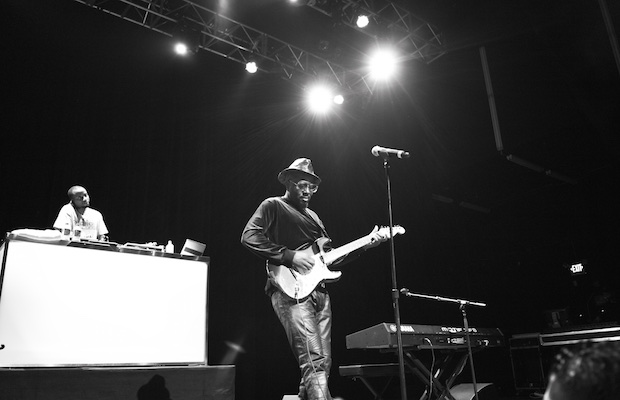 Wyclef performs at the Lexus Pop-Up Concert Series at Fox Theater June 25. (Earl Gibson III/Getty Images for Pandora)