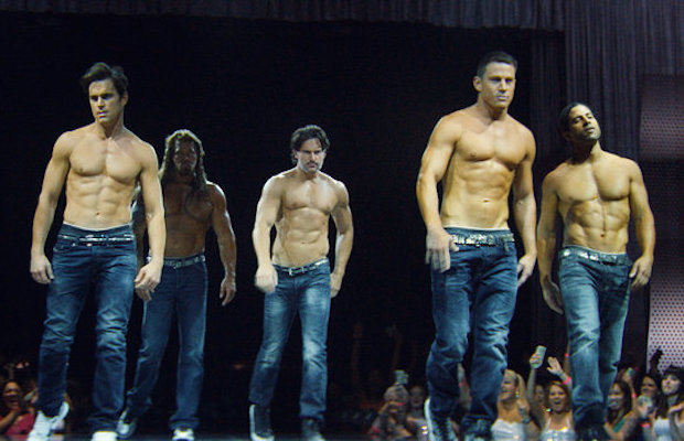 Matt Bomer, Kevin Nash, Joe Manganiello, Channing Tatum and Adam Rodriguez in Magic Mike XXL (Claudette Barius/Warner Bros. Pictures)