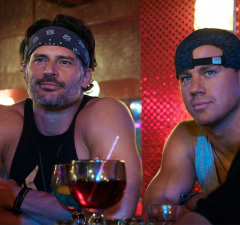 Joe Manganiello, left, and Channing Tatum in the comedy Magic Mike XXL. (Warner Brothers Pictures)