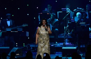 There were ovations when the Queen of Soul both appeared on and exited the stage. (Microsoft Theater/Juan Ocampo)