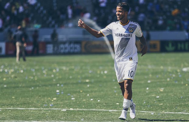 Galaxy forward Giovani Dos Santos scored a goal in his first MLS match Aug. 9 against the Sounders. (LA Galaxy)