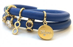 Endless Jewelry debuted this Blue Sapphire Blue Leather Bracelet in their Autumn/Winter 2015 Collection.