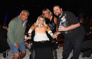 Stan Pimental, Tiffany Cowan and family on June 27 at Irvine Meadows Amphitheatre (Marvin Vasquez/LOL-LA)
