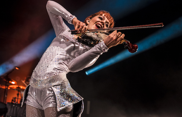 Lindsey Stirling touched the hearts of the Santa Barbara Bowl audience on Aug. 15. (Dougal Brownlie/LOL-LA)