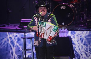 The Greek Theatre roared for Ramón Ayala's accordion play on Saturday night. (Marvin Vasquez/LOL-LA)