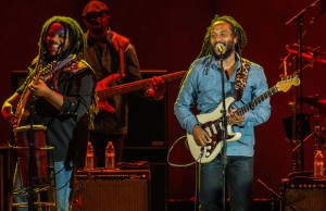 Stephen and Ziggy Marley performed their father's songs like no one else could at the Bowl Aug. 16. (Rafael Orellana/LOL-LA)