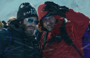 Scott Fischer (Jake Gyllenhaal) and Rob Hall (Jason Clarke) in Everest (Jasin Boland/Universal)