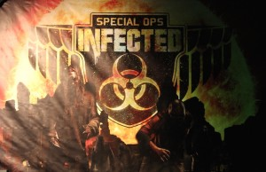 Knott's Scary Farm's Special Ops: Infected – Patient Zero is a special kind of terrifying. (Sabina Ibarra/LOL-LA)