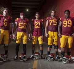The 2015 USC football captains are ready for their season opener Saturday against Arkansas State. (Instagram)