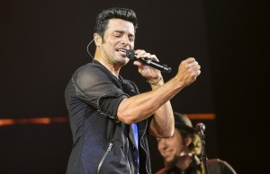 Latin pop music singer Chayanne at Staples Center in L.A. (Photo Courtesy of Aaron Poole / Staples Center)