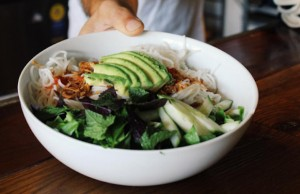 The Vermicelli Salad with Coconut Dressing at Croft Alley