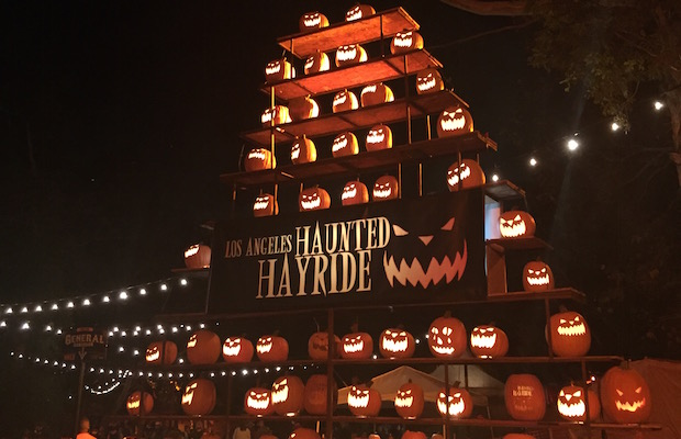 It was a perfect fall evening for the Black Carpet premiere of this year's Los Angeles Haunted Hayride. (Sabina Ibarra/LOL-LA)