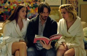 Lorenza Izzo, Keanu Reeves and Ana de Armas in Knock Knock