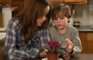 Brie Larson and Jacob Tremblay in Room. (George Kraychyk/A24)
