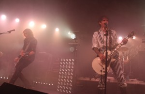 Brothers Dan and Justin Hawkins of the Darkness performing at the Glass House in Pomona Oct. 9 (Evan Solano/LOL-LA)