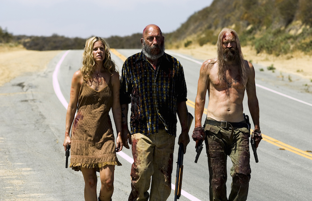 Baby (Sheri Moon Zombie), Captain Spaulding (Sid Haig) and Otis (Bill Moseley) in The Devil's Rejects