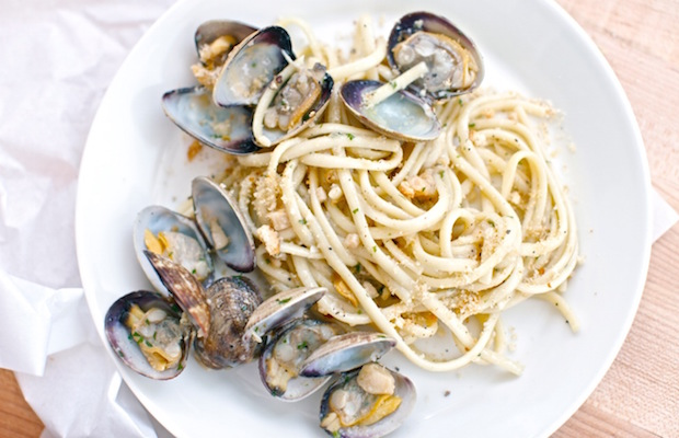 The Linguine Alla Vongole at Vernetti features Manila clams, white wine, garlic and crushed red pepper.