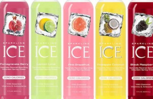 Sparkling ICE comes in a wide variety of flavors that make great mixers.