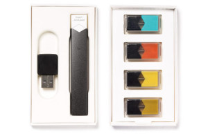 JUUL comes with four flavor pods and a slick USB dock.