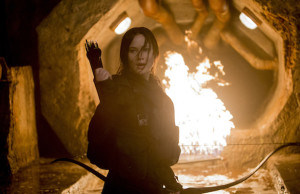 Jennifer Lawrence stars as Katniss Everdeen in The Hunger Games: Mockingly – Part 2. (Murray Close)