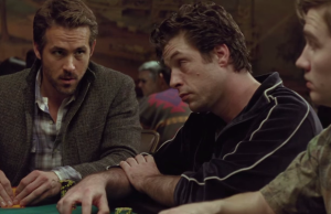 Ryan Reynolds, far left, in Mississippi Grind. (A24 Films)
