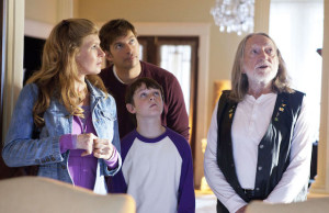 Connie Britton, Harry Connick Jr., Chandler Canterbury and Willie Nelson in Angels Sing (Joaquin Avellán/Lionsgate)