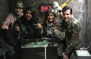 Our team was able to save the world with four minutes left on the clock.