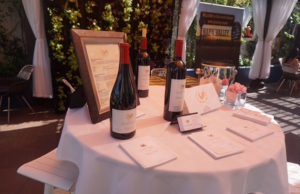 The launch for the Napa Valley E-Auction took place at the Estérel Garden at Sofitel Hotel. (Dawn Castillo/LOL-LA)