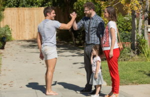 Zac Efron, Seth Rogen and Rose Byrne in Neighbors 2: Sorority Rising (Justin Lubin/Universal Pictures)