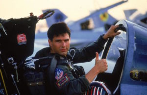 Tom Cruise as Maverick in Top Gun from 1986.