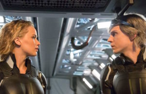 Raven/Mystique (Jennifer Lawrence) and Peter Maximoff/Quicksilver (Evan Peters) in X-Men: Apocalypse