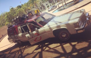 Don't miss your chance to pose with the Ecto-1 at Universal CityWalk. (Sabina Ibarra/LOL-LA)