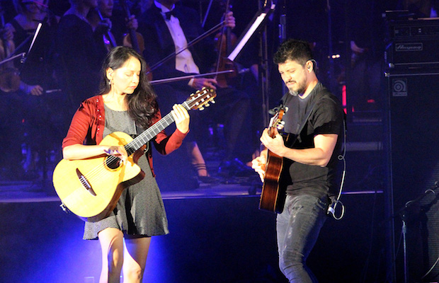 Flamenco metal duo Rodrigo y Gabriela perform at the Hollywood Bowl on Aug. 14. (Evan Solano/LOL-LA)
