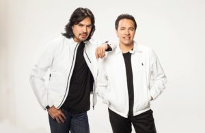 Mexican romantic music group Los Temerarios is led by brothers Adolfo Angel and Gustavo Angel