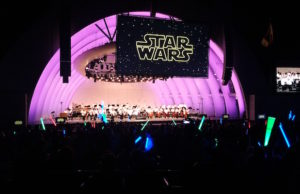 A sea of lightsabers illuminated the Hollywood Bowl for John Williams: Maestro of the Movies. (Evan Solano/LOL-LA)