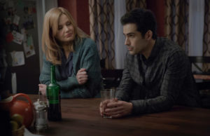 "Geena Davis and Alfonso Herrera in ""The Exorcist,"" premiering Sept. 23 on Fox. (Chuck Hodes/Fox)"