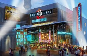 An artist's rendering of the new House of Blues, opening in March at Anaheim GardenWalk.