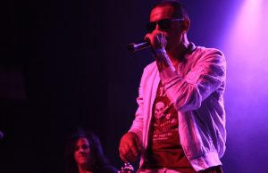 Chester Bennington of Linkin Park on stage as part of Rock to Recovery's fundraising concert (David Tobin/LOL-LA)